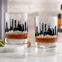 New York Skyline Personalized Printed Whiskey..
