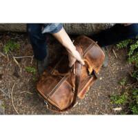 100% Leather Duffel Bag