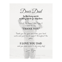 Personalized Thank You Dad Canvas