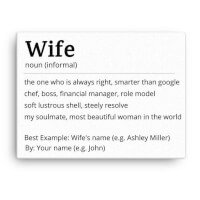 Custom Wife Meaning Canvas