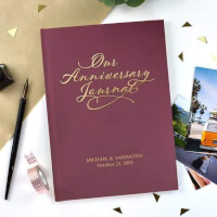 Personalized Anniversary Journal