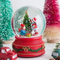 Kids & Christmas Tree Snowglobe