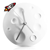 Moon Rocket Clock