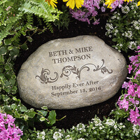 Personalized Decorative Garden Stones - Loving..