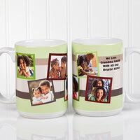 Personalized Photo Collage 15 Oz. Coffee Mugs