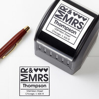 Personalized Address Stamp - Mr & Mrs