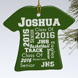 Birthday Gifts:Personalized School Spirit Ornament