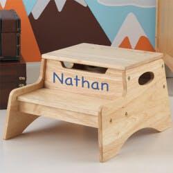 Personalized Kids Wood Step Stool - Step &..