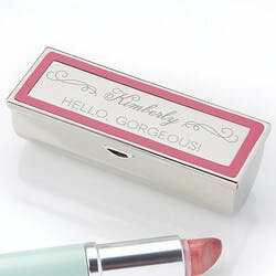 Engraved Lipstick Case - Makeup Motto
