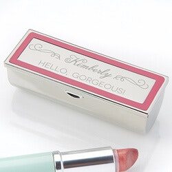 Romantic Gifts:Engraved Lipstick Case - Makeup Motto