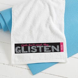 Girls Dont Sweat Gym Towel
