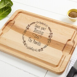 Personalized Gifts for Family:Personalized Kitchen Maple Cutting Board -..