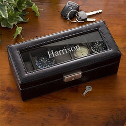 Personalized 5 Slot Watch Box