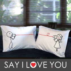 Valentines Day Gifts for Wife:Couples Pillowcases