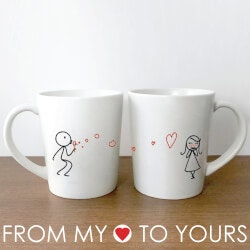 Personalized Christmas Gifts for Husband:From My Heart To Yours™ Couple Mugs