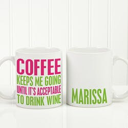 Personalized Funny Coffee Mug - Shhh Theres..