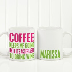 Personalized Gifts (Under $10):Personalized Funny Coffee Mug - Shhh Theres..