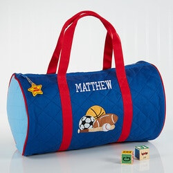 Boys Personalized Sports Duffel Bag & Travel..