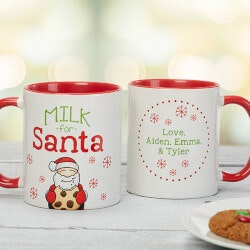 Personalized Gifts (Under $10):Personalized Christmas Mug - Milk For Santa
