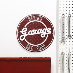 Gifts for Uber Drivers:Personalized Garage Outdoor Wall Plaque