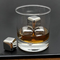 Whiskey Gifts:Stainless Steel Whiskey Stones, Set Of 4