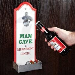 Gifts Under $10:Man Cave Beer Bottle Opener With Cap Catcher