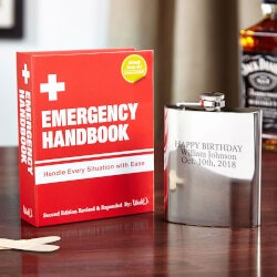 Gag Gifts:Emergency Handbook Hidden Flask