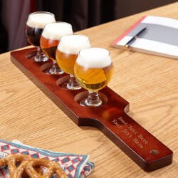 Carefully Crafted Personalized Beer Flight..
