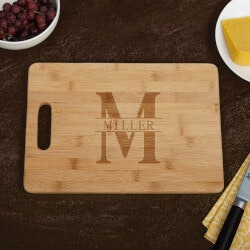 Christmas Gifts for Mom Under $50:Oakmont Bamboo Cutting Board
