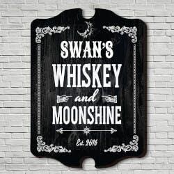Whiskey & Moonshine Personalized Bar Sign