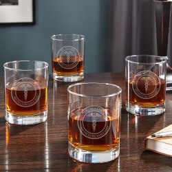 Medical Arts Personalized Whiskey Glasses,..