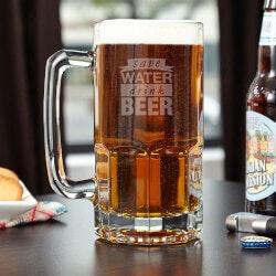 Unique Gifts:Save Water Drink Beer Mug