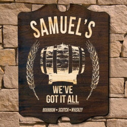 All The Whiskey Personalized Bar Sign..