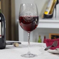 Wine Gifts:Anniversary Custom Wine Glass