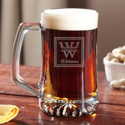 Personalized Beer Gifts for Friends:Oakhill Personalized Beer Mug