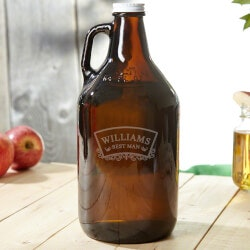 Personalized Wedding Gifts:Timeless Wedding Engraved Beer Growler