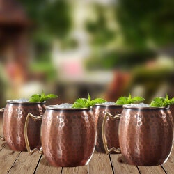 Gifts for MomUnder $100:Dmitry Hammered Moscow Mule Mugs, Set Of 4