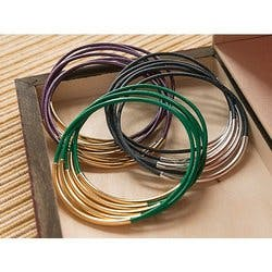 Leather Wraps: Bangle Bracelets