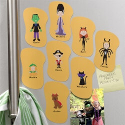 Personalized Gifts:Personalized Halloween Refrigerator Magnets..
