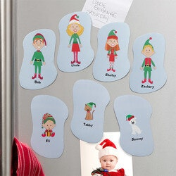 Personalized Christmas Refrigerator Magnets..