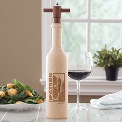 Christmas Gifts for Mom Under $100:Personalized Pepper Mill - Add Spice