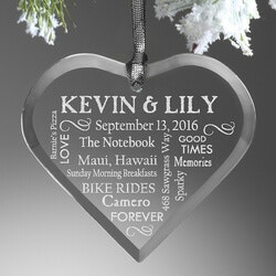 Wedding Gifts:Personalized Christmas Ornaments - Wedding..
