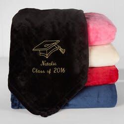 Personalized Graduation Fleece Blanket -..