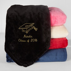 Personalized Gifts for Teenage Boys:Personalized Graduation Fleece Blanket -..