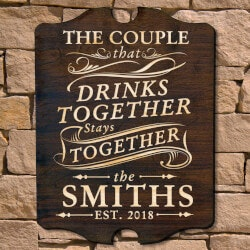 Wine Gifts:Drink Together Stay Together Custom Wall..