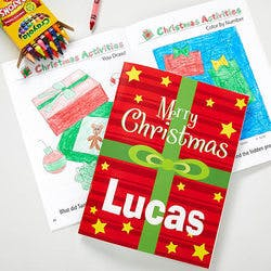 Personalized Christmas Coloring Book &..