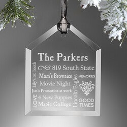 Personalized Gifts (Under $10):Personalized Christmas Ornaments - Family Home