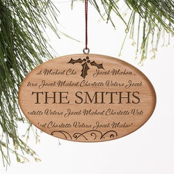 Personalized Gifts for Family:Family Is Forever Engraved Natural Wood..