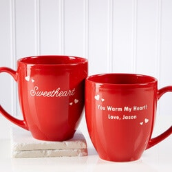 Anniversary Gifts for Girlfriend:Personalized Coffee Mugs - Romantic Nicknames