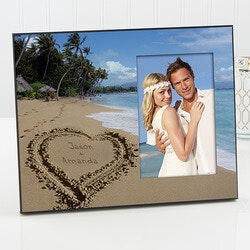 Wedding Gifts:Personalized Picture Frames - Tropical Beach